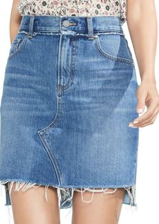 Vince Camuto Essentials Frayed Denim Skirt