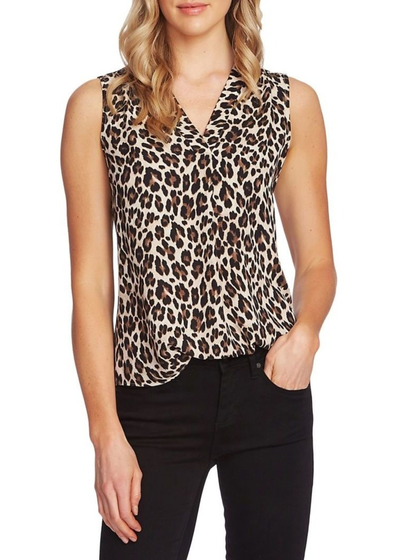 Vince Camuto Essentials Printed Blouse