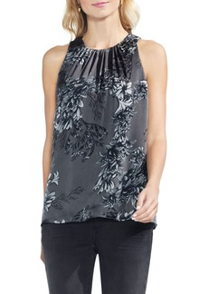 Vince Camuto Etched Woodland Floral Blouse