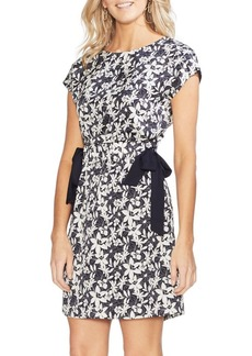 Vince Camuto Ethereal Dawn Hammer Satin Floral Lace Sheath Dress