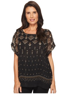 Vince Camuto Extend Shoulder Deco Highlights Blouse