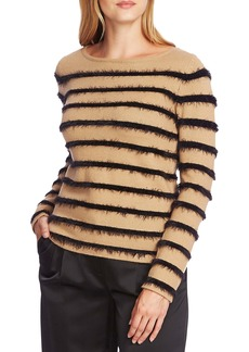 Vince Camuto Eyelash Chenille Stripe Sweater