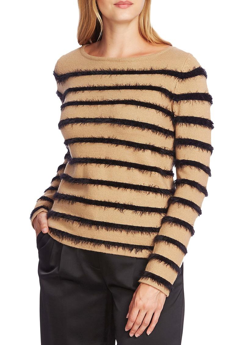 Vince Camuto Eyelash Chenille Stripe Sweater