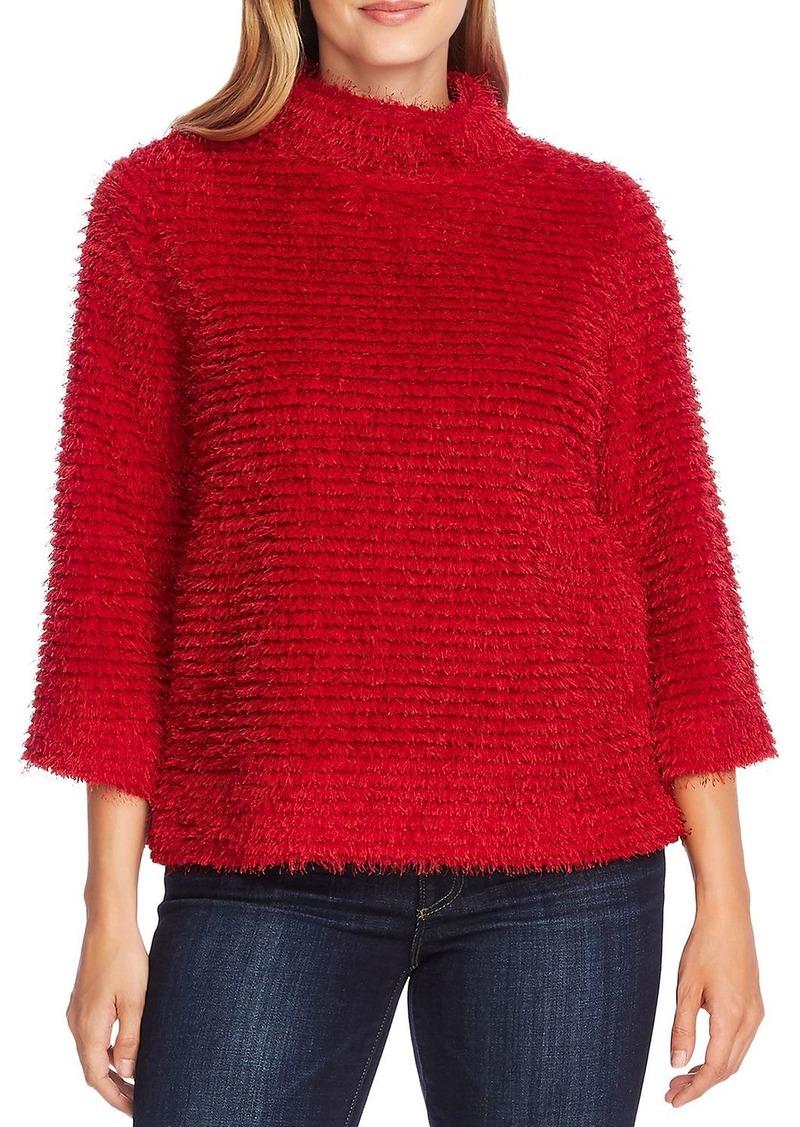 VINCE CAMUTO Eyelash Textured Mock-Neck Sweater