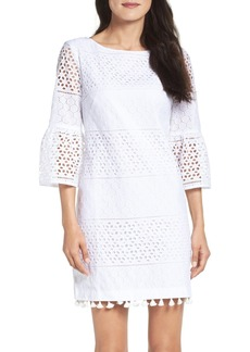 Vince Camuto Eyelet A-Line Dress (Regular & Petite)