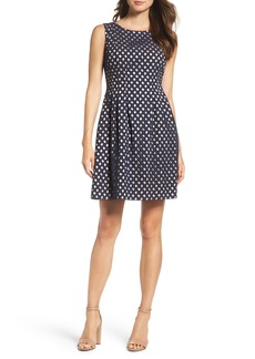 Vince Camuto Eyelet Fit & Flare Dress (Regular & Petite)