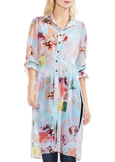 VINCE CAMUTO Faded Blooms Side Slit Tunic