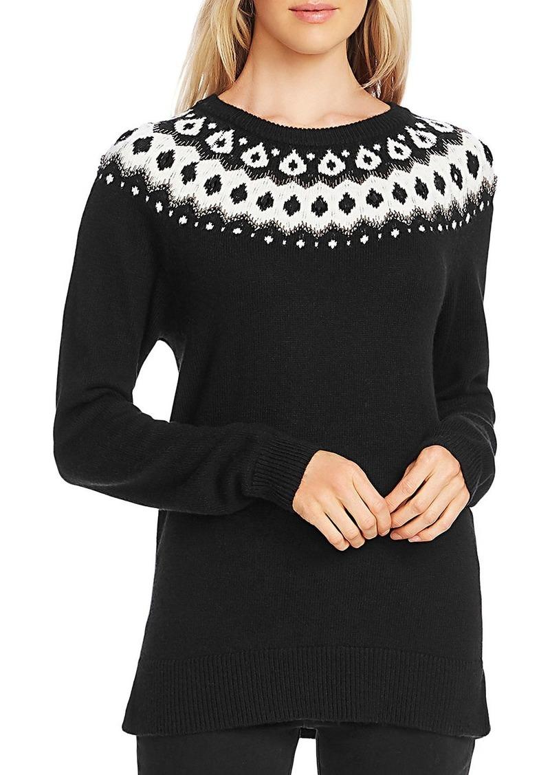 VINCE CAMUTO Fair Isle Detail Sweater