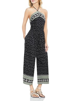 VINCE CAMUTO Fan Print Wide Leg Jumpsuit