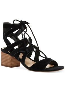 Vince Camuto Fauna Lace-Up Block-Heel Sandals Women's Shoes