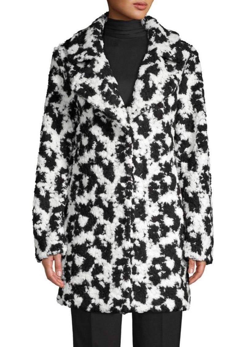 Vince Camuto Faux Fur Button-Front Coat