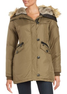 Vince Camuto Faux Fur-Lined and Trimmed Parka