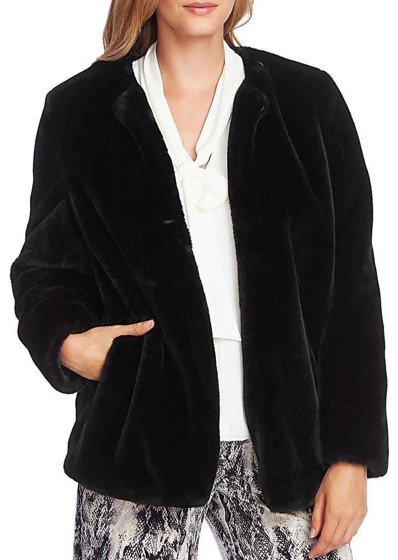 VINCE CAMUTO Faux-Fur Short Jacket