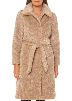 VINCE CAMUTO Faux Fur Teddy Wrap Coat