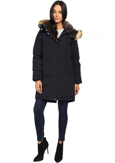Vince Camuto Faux Fur Trim and Lined Hooded Down Removable Hood L1011