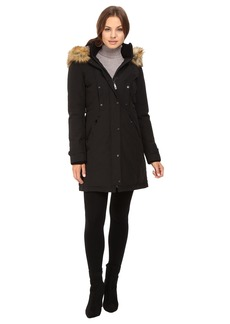Vince Camuto Faux Fur Trim and Lined Hooded Down Removable Trim L1721
