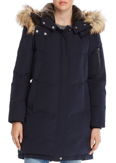 VINCE CAMUTO Faux Fur Trim Double Pocket Parka