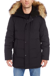 Vince Camuto Faux Fur Trim Down & Feather Puffer Jacket