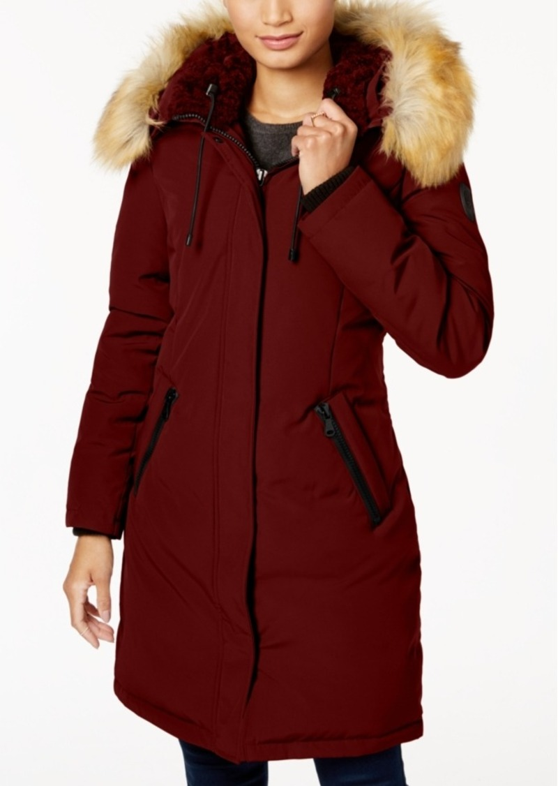 d3a686b8f9e08 On Sale today! Vince Camuto Vince Camuto Faux-Fur-Trim Hooded Down Parka