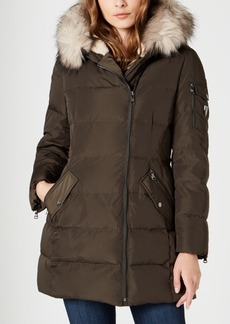 Vince Camuto Faux-Fur-Trim Hooded Down Puffer Coat