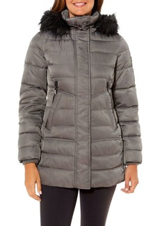 Vince Camuto Faux Fur-Trim Hooded Jacket