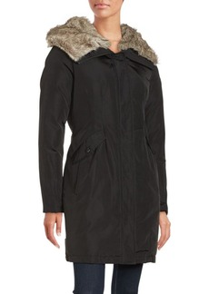 Vince Camuto Faux Fur Trim Hooded Parka