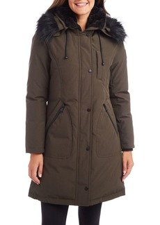 Vince Camuto Faux Fur-Trim Hooded Parka
