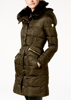 Vince Camuto Faux-Fur-Trim Hooded Puffer Coat, Created for Macy's
