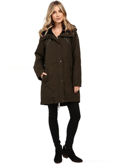 Faux Fur Trim Parka L1051
