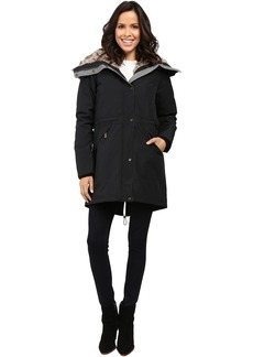 Faux Fur Trim Parka L1081