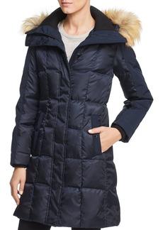 VINCE CAMUTO Faux Fur Trim Puffer Coat