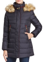 VINCE CAMUTO Faux Fur-Trim Puffer Coat