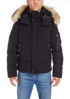 Vince Camuto Faux Fur Trim Puffer Jacket