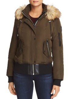 VINCE CAMUTO Faux Fur Trim Short Puffer Coat
