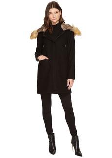 Vince Camuto Faux Fur Trim Wool L8371