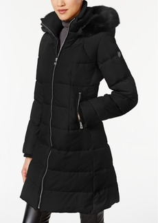 Vince Camuto Faux-Fur-Trimmed Puffer Coat