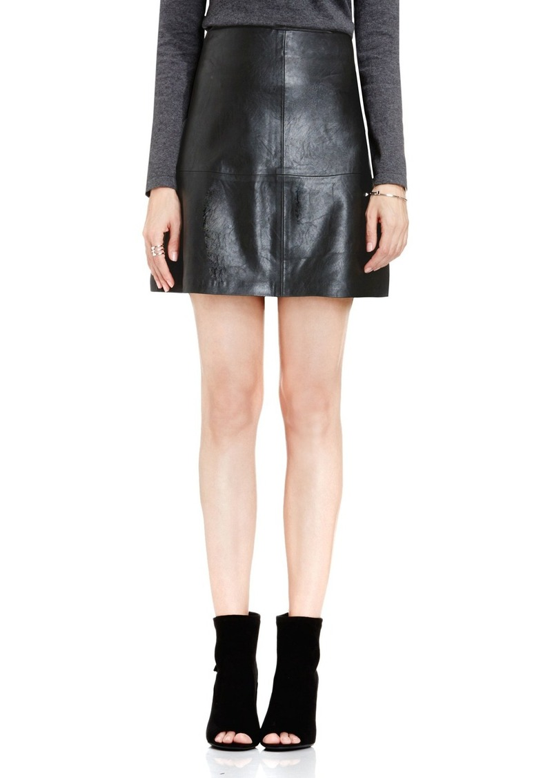 Vince Camuto Faux Leather A-Line Skirt