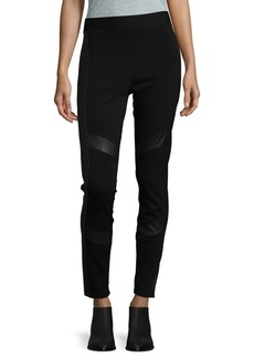 Vince Camuto Faux Leather Accent Leggings