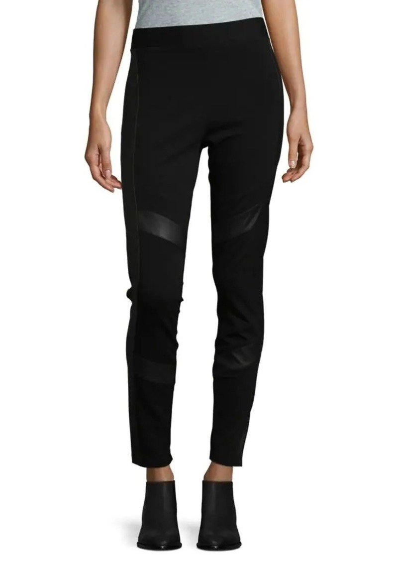20145e93b6e96 Vince Camuto Vince Camuto Faux Leather Accent Leggings   Casual Pants