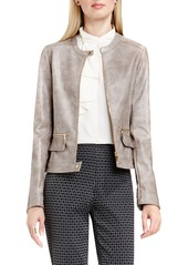 Vince Camuto Faux Leather Moto Jacket