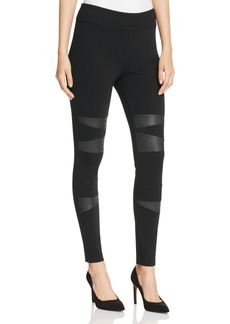 VINCE CAMUTO Faux Leather Patch Leggings
