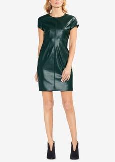 Vince Camuto Faux-Leather Sheath Dress