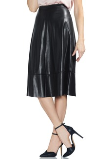 Vince Camuto Faux Leather Skirt