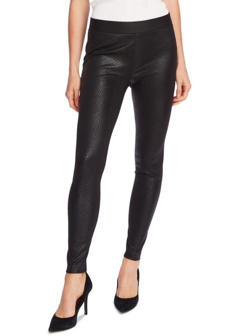 Vince Camuto Faux-Leather Snake-Pattern Pull-On Pants