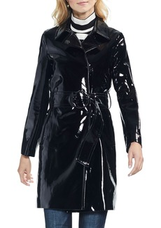 Vince Camuto Faux Patent Leather Belted Jacket