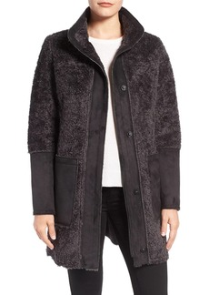 Vince Camuto Faux Shearling Stand Collar Coat