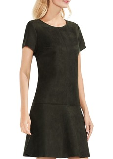 VINCE CAMUTO Faux-Suede Scuba Dress