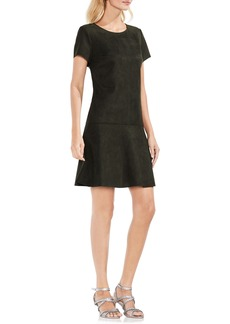 Vince Camuto Faux Suede Scuba Dress