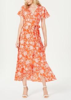 Vince Camuto Faux-Wrap Maxi Dress
