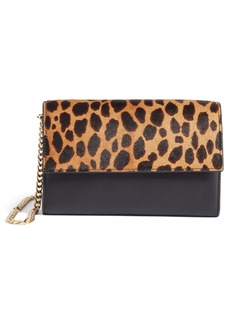 Vince Camuto Fayna Genuine Calf Hair & Leather Foldover Clutch (Nordstrom Exclusive)
